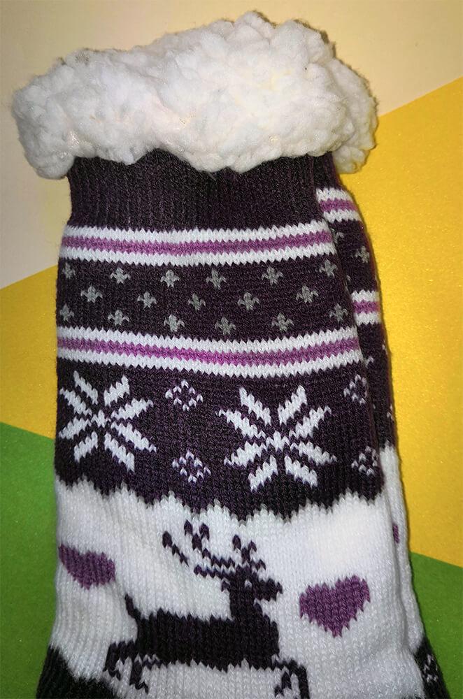 Женские тапочки-носки Emi Ross EJ-248-v 35-38 размера фиолетового цвета. Фото 3