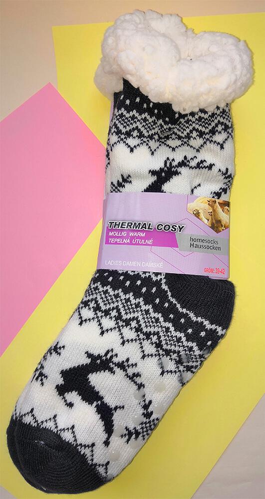 Женские тапочки-носки LookEN 2003-bl 39-42 размера черного цвета.