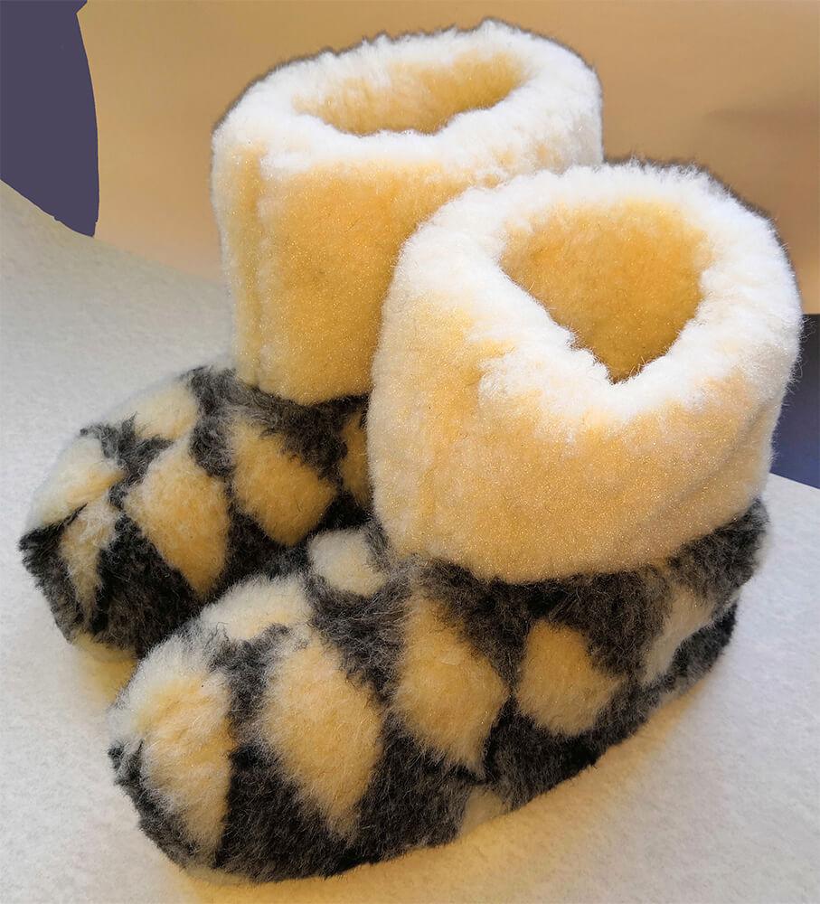 Женские комнатные тапочки-сапожки на овчине Polmar 1001-08 38/39 размера серого цвета