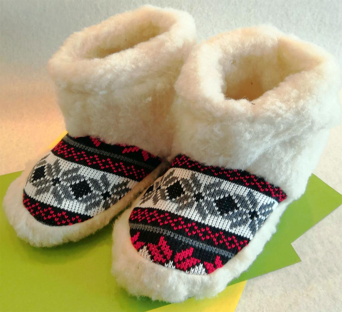 Женские комнатные тапочки-сапожки на овчине Polmar 1008-01 36/37 размера