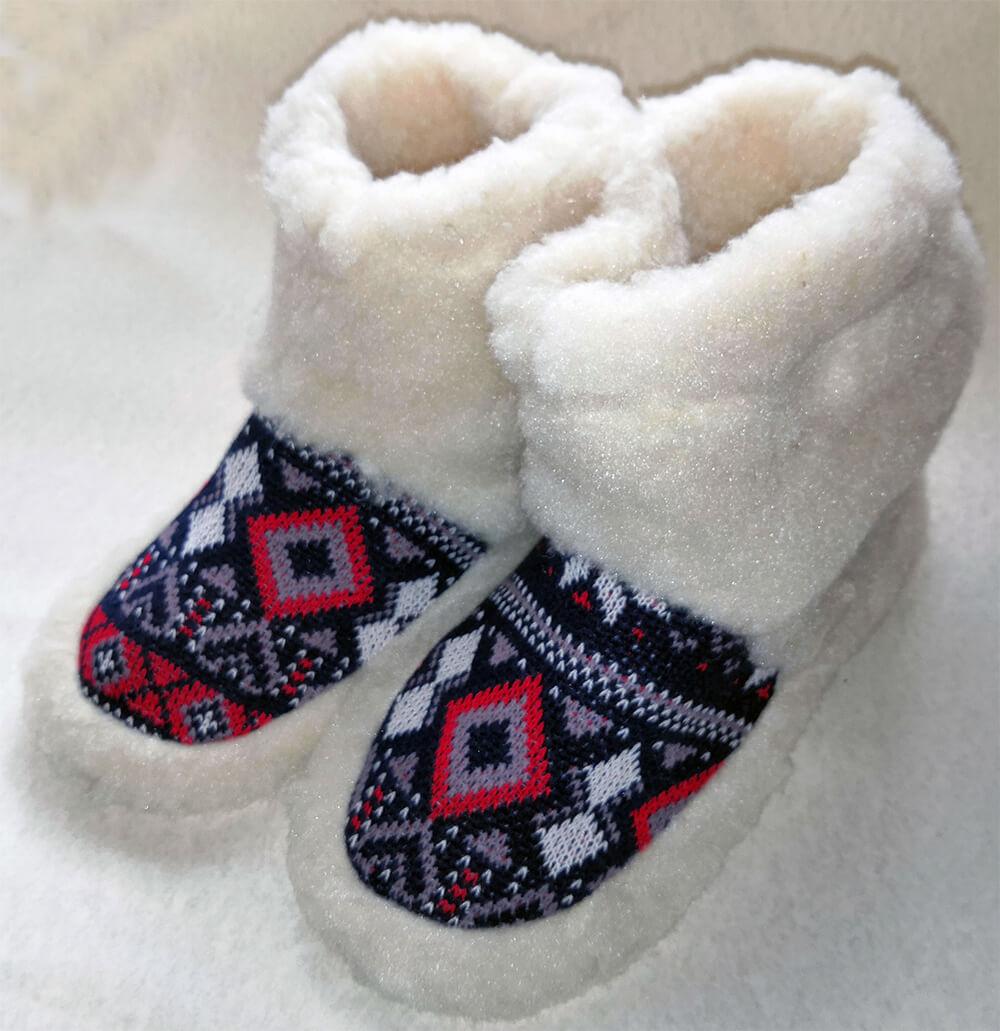 Женские комнатные тапочки-сапожки на овчине Polmar 1008-01. Фото 1