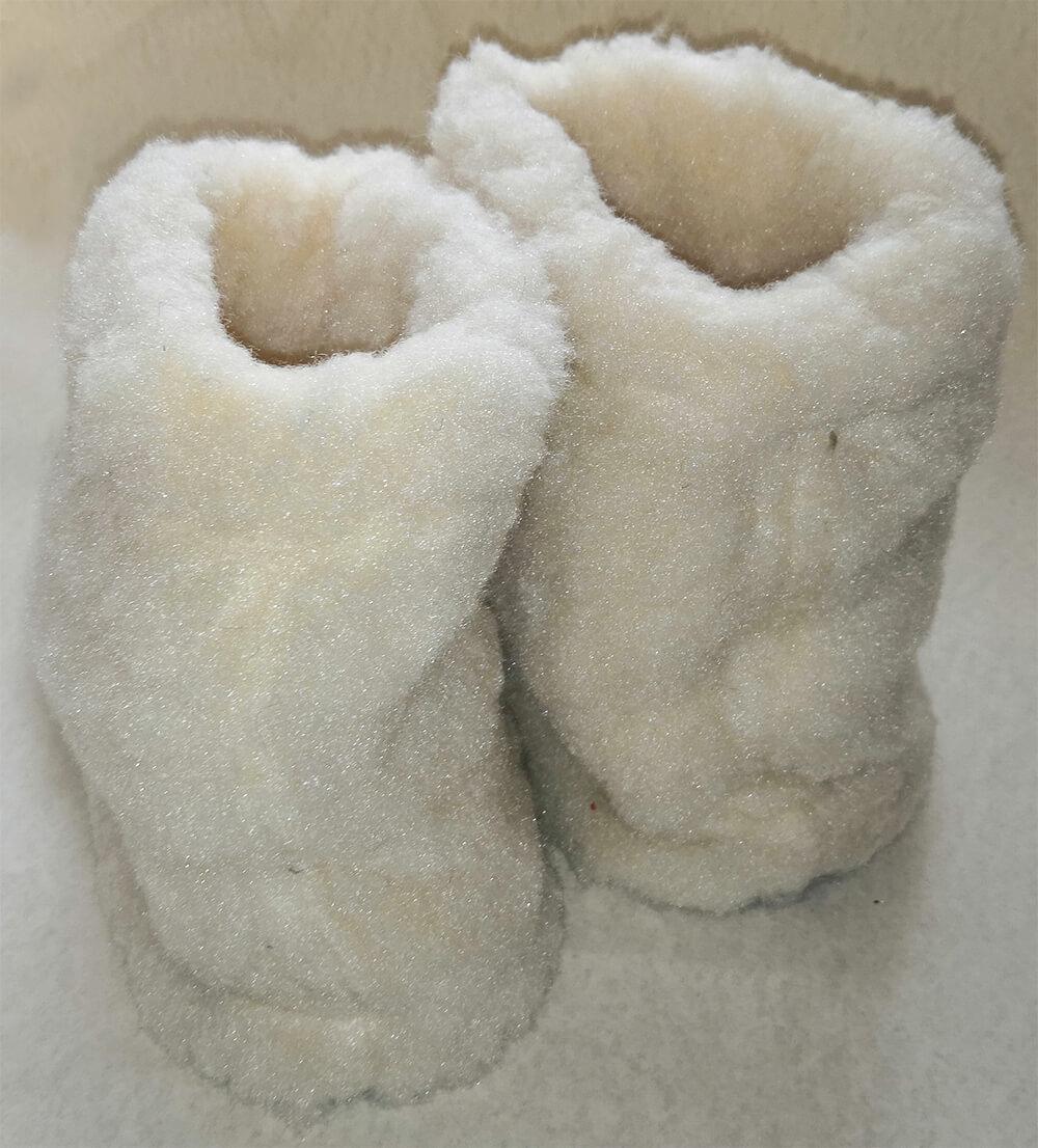 Женские комнатные тапочки-сапожки на овчине Polmar 1008-01 38/39 размера. Фото 2