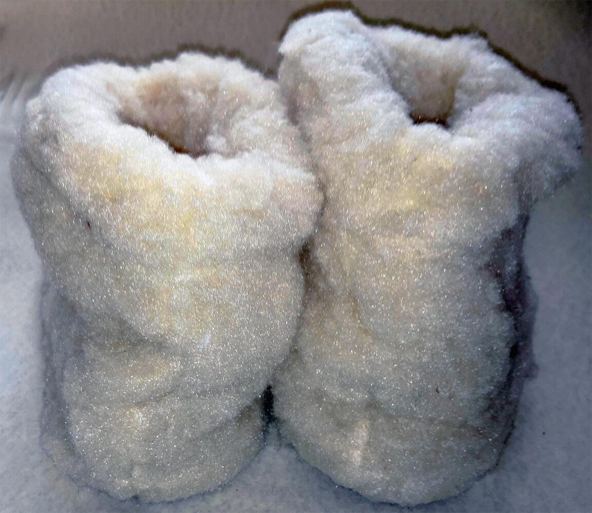 Женские комнатные тапочки-сапожки на овчине Polmar 1008-02 40/41 размера. Фото 2