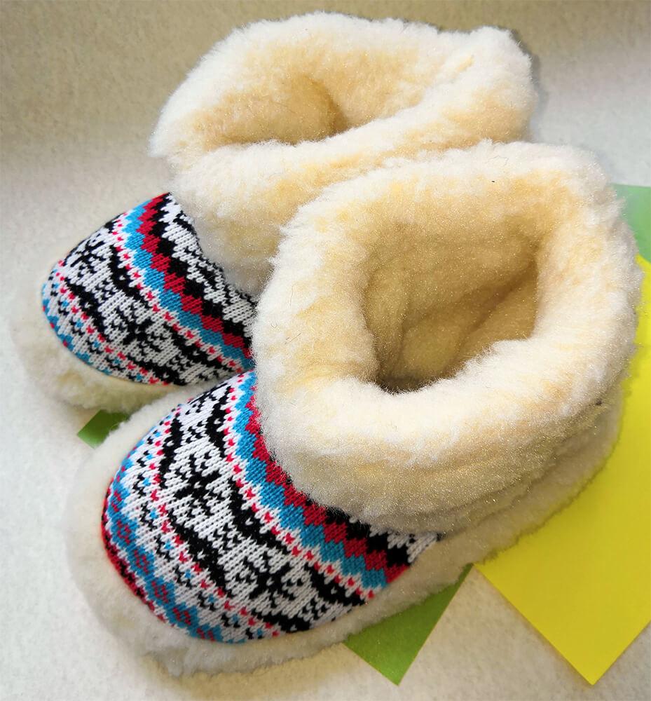 Женские комнатные тапочки-сапожки на овчине Polmar 1008-03 40/41 размера