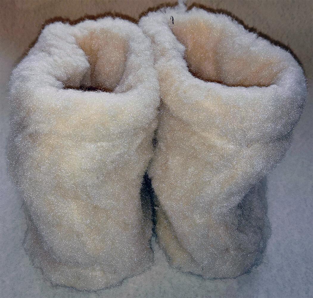 Женские комнатные тапочки-сапожки на овчине Polmar 1008-04 40/41 размера. Фото 2