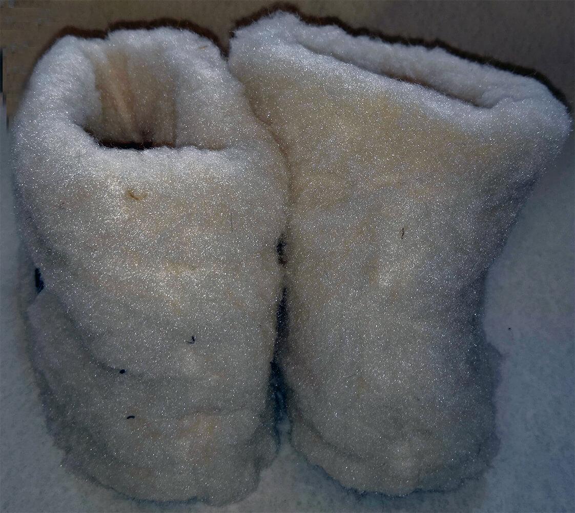 Женские комнатные тапочки-сапожки на овчине Polmar 1008-05 38/39 размера. Фото 2