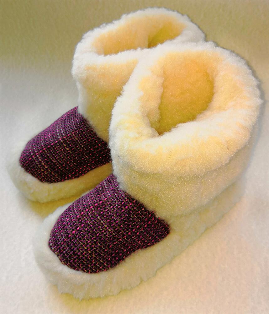 Женские комнатные тапочки-сапожки на овчине Polmar 1008-06 38/39 размера