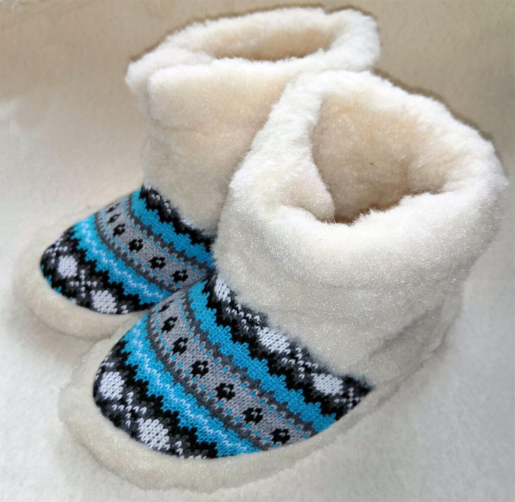 Женские комнатные тапочки-сапожки на овчине Polmar 1008-06 40/41 размера. Фото 1