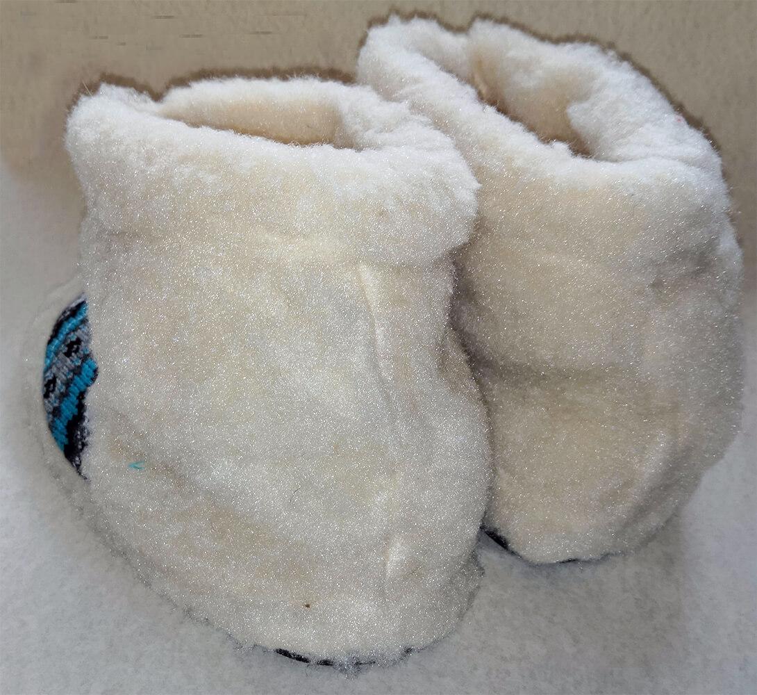 Женские комнатные тапочки-сапожки на овчине Polmar 1008-06 40/41 размера. Фото 2
