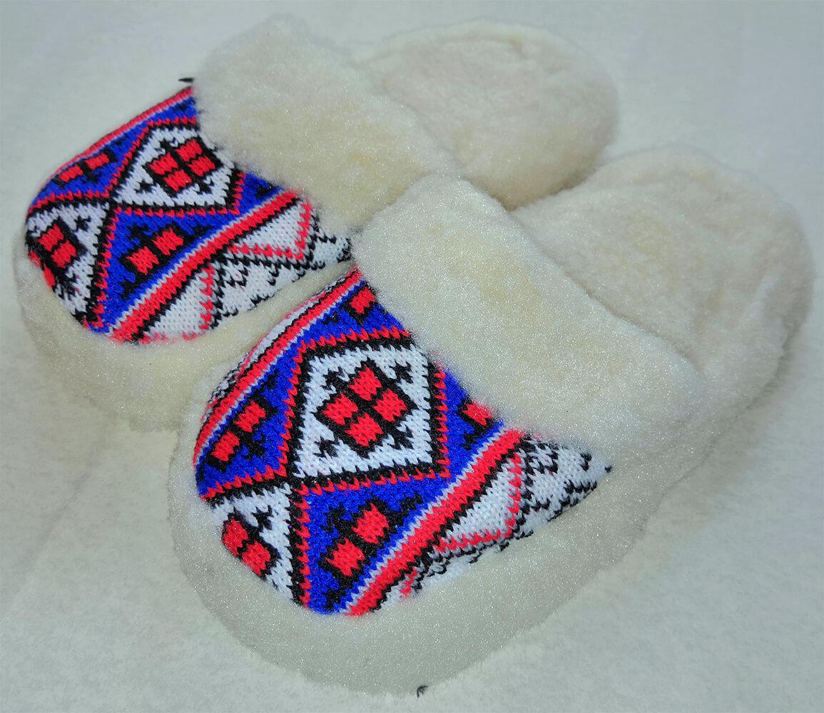 Женские комнатные теплые тапочки на овчине Polmar 1009-02. Фото 1