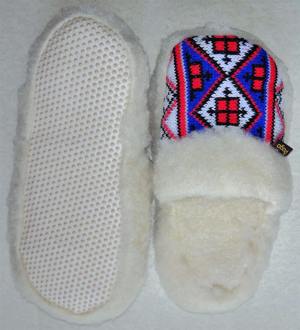 Женские комнатные теплые тапочки на овчине Polmar 1009-02. Фото 2