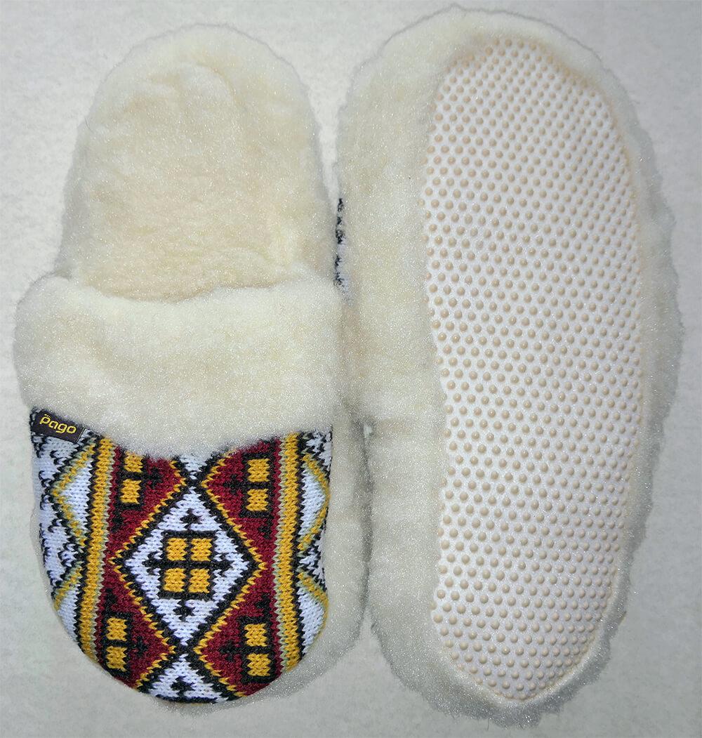 Женские комнатные теплые тапочки на овчине Polmar 1009-05. Фото 2