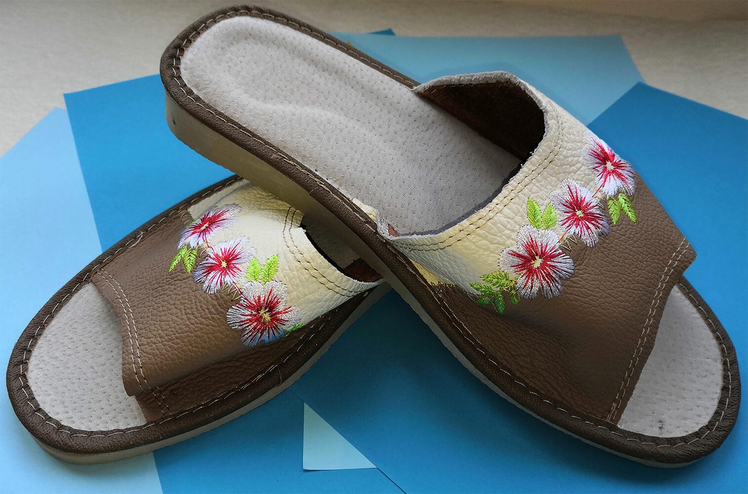 Кожаные тапочки женские Polmar P226-03 37 размера. Фото 3