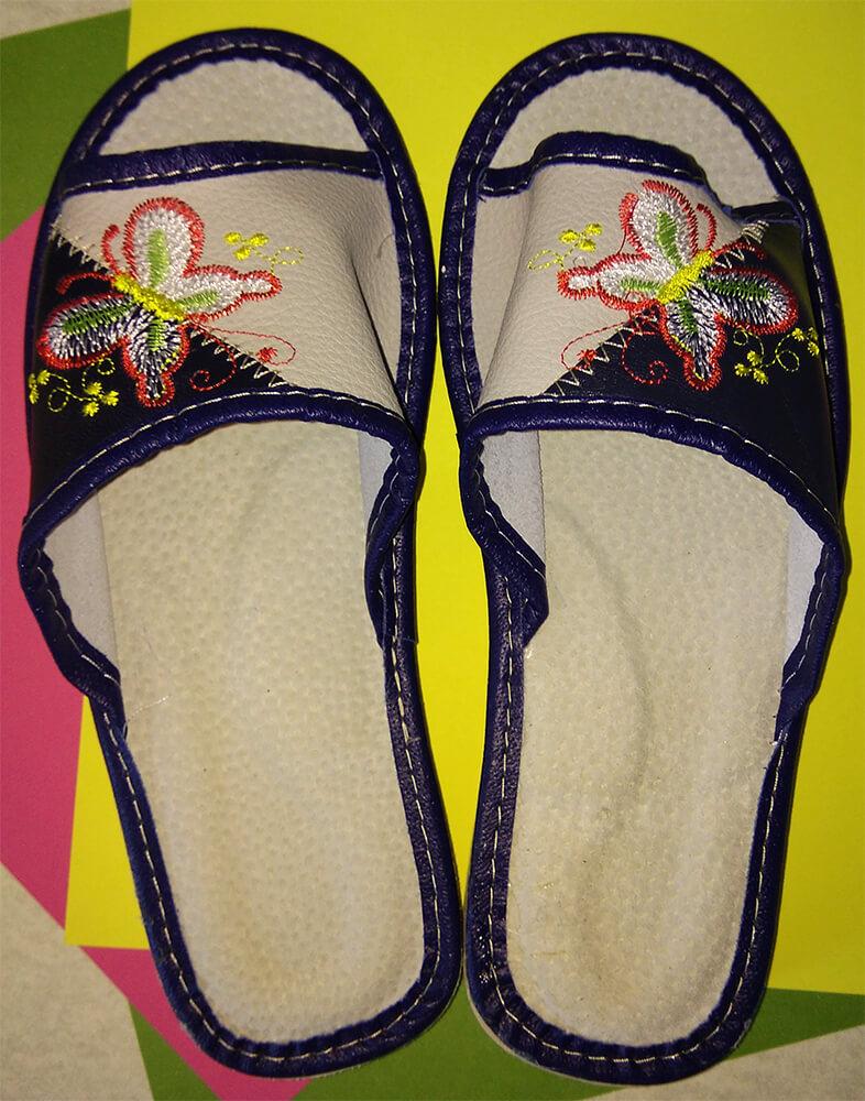 Кожаные тапочки женские Polmar P228 36 размера. Фото 4