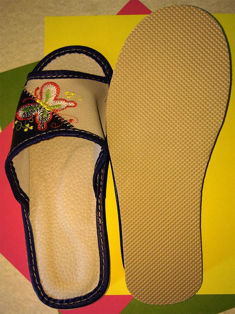 Кожаные тапочки женские Polmar P228 36 размера. Фото 5