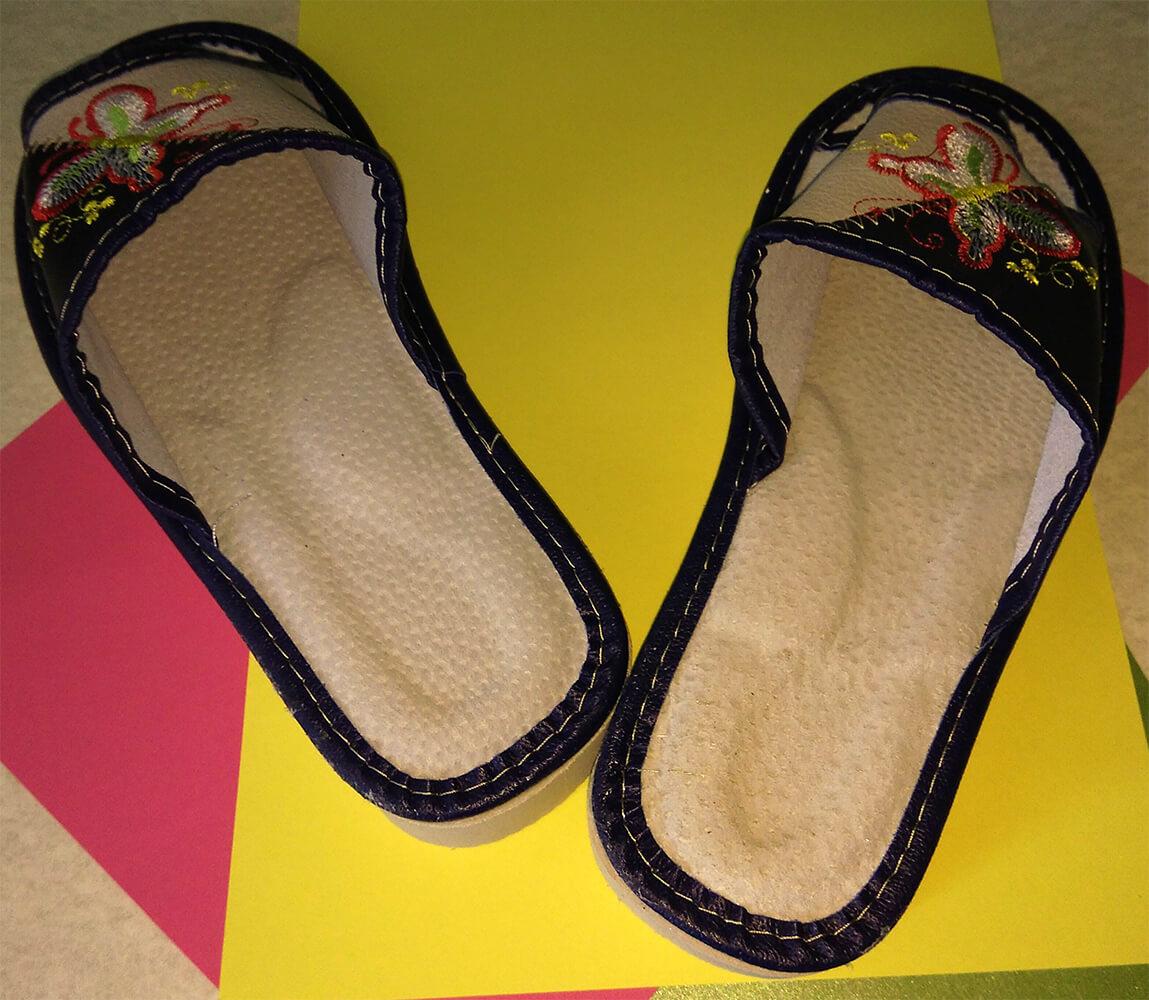 Кожаные тапочки женские Polmar P228 36 размера. Фото 6