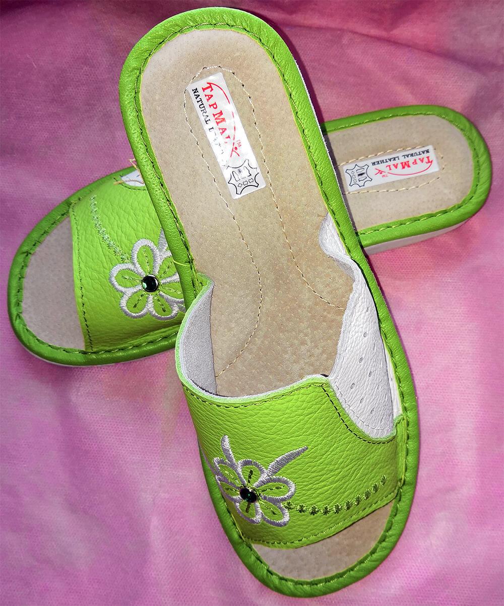 Тапки кожаные женские купить TapMal A39 40 размера. Фото 2