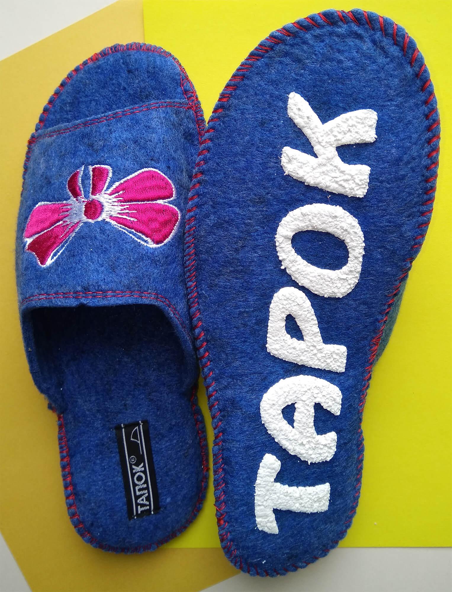 Войлочные тапочки женские TapOK T509r. Фото 4
